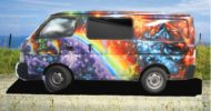 Rainbow Unicorn Campervan